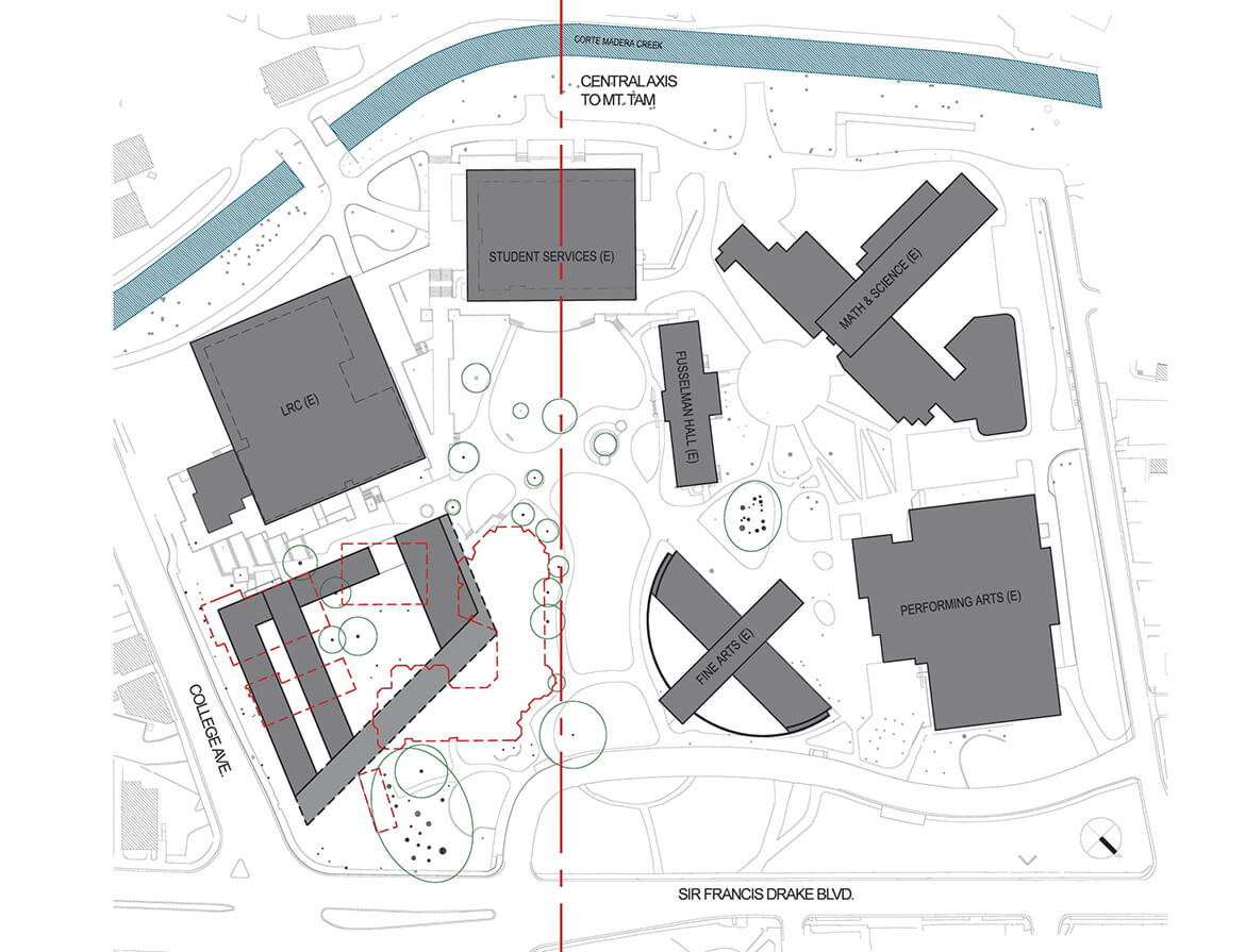 College of marin academic center mark cavagnero masterplan diagram 3 ccuart Choice Image