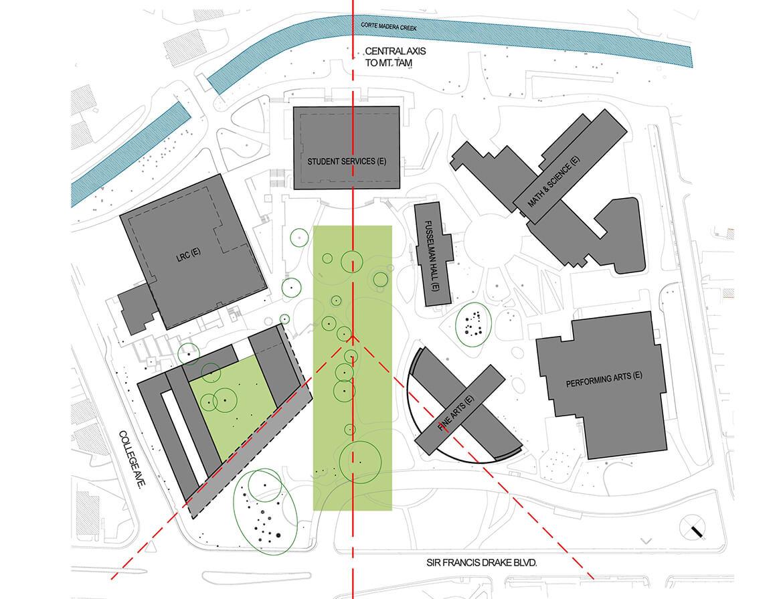 College of marin academic center mark cavagnero masterplan diagram 4 ccuart Images