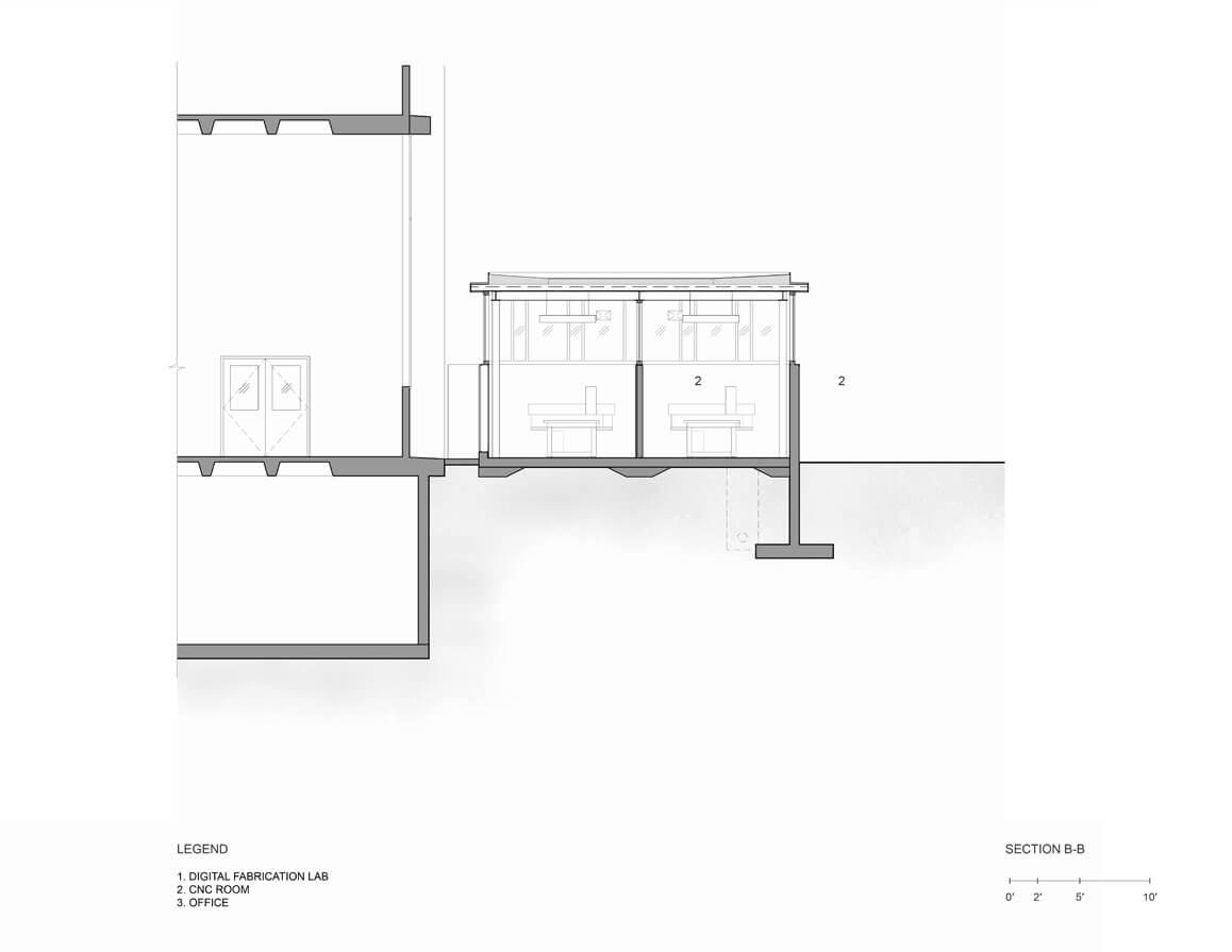 Uc berkeley wurster hall addition digital fabrication lab mark cavagnero for Plan b design fabrication inc
